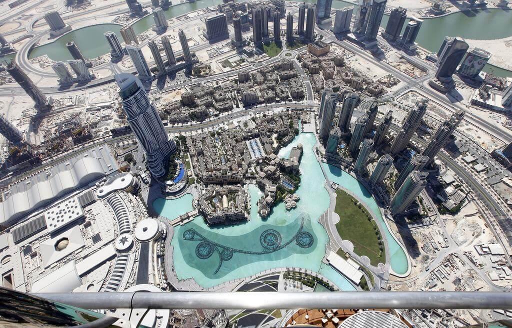 view from 148 floor of burj khalifa