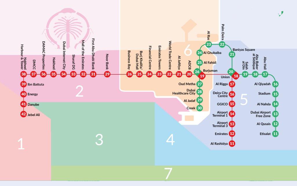 Dubai Metro Map 2020